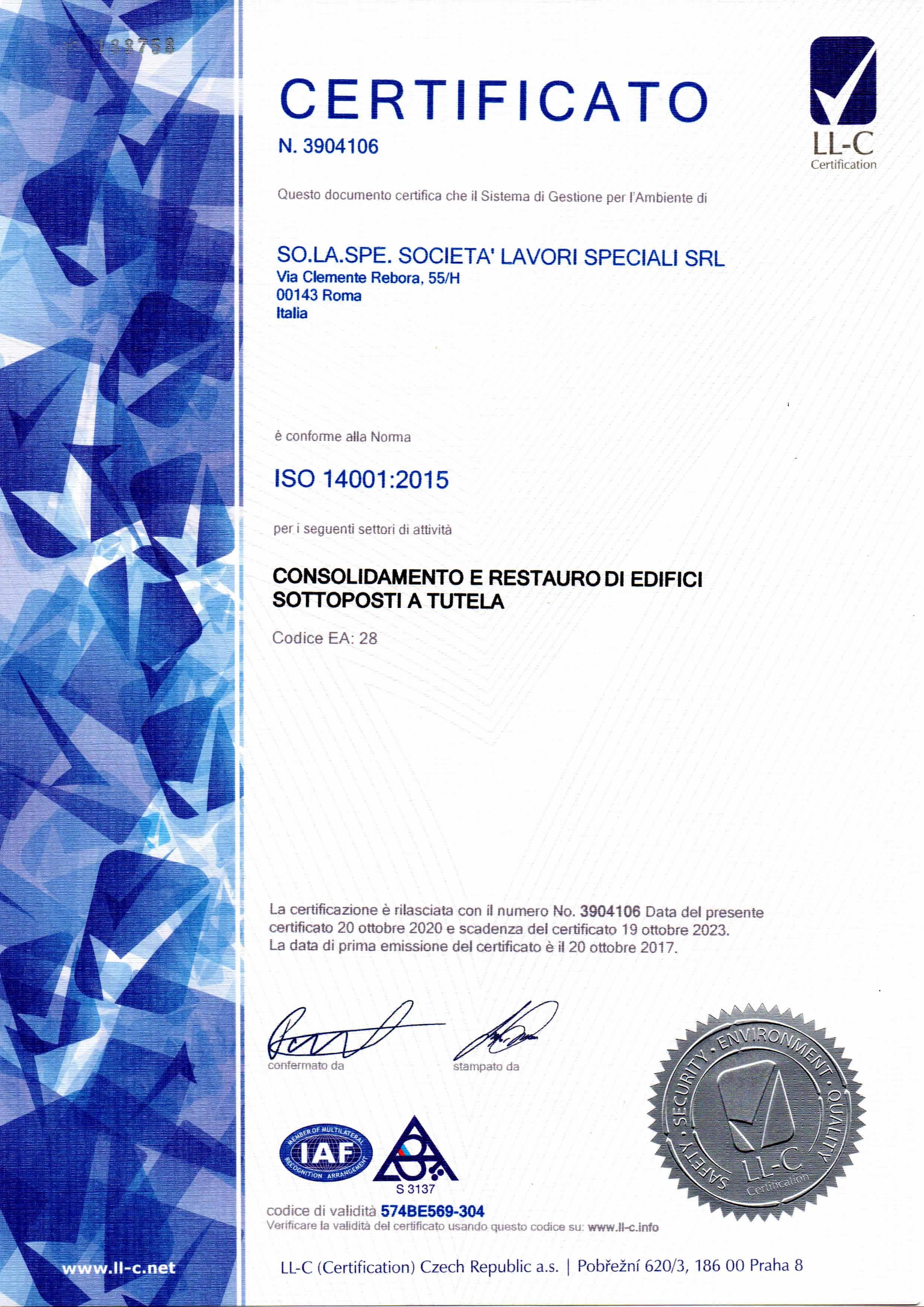 ISO 14001-2015 Solaspe